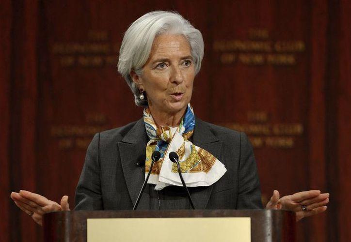 """Lagarde dijo que Peña ha logrado """"la mezcla correcta de políticas"""". (EFE)"""