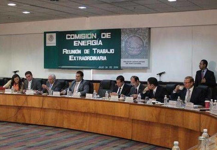 Aspecto de la reunión de la Comisión de Energía de la Cámara de Diputados. (Twitter.com/@MarcoBernalG)