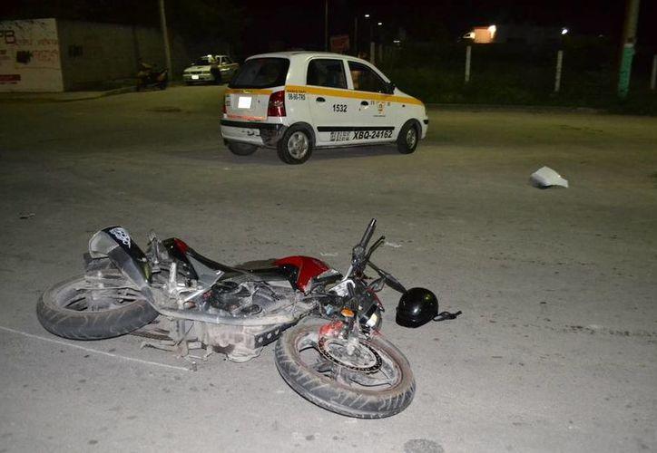 El motociclista se encontraba bajo los efectos del alcohol al momento del accidente. (Redacción/SIPSE)