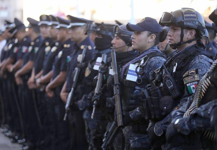 Con base en el informe mensual del SNSP, los estados en donde se concentraron los secuestros fueron Tamaulipas con 18, le siguen el Distrito Federal y Veracruz, con 9 cada uno. Imagen de elementos de la Gendarmería encargados de la seguridad del país. (Archivo/Notimex)