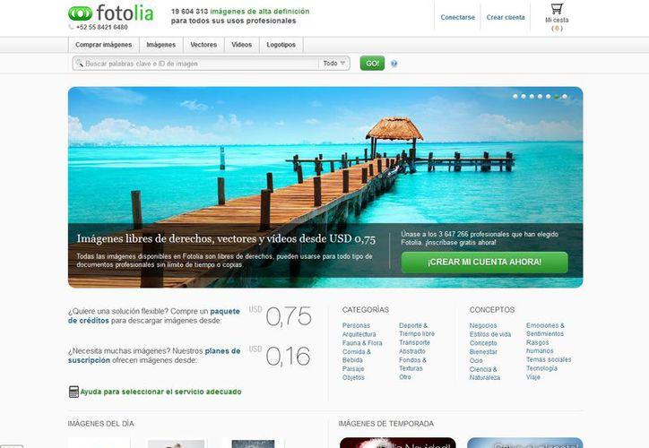 En Fotolia hay que registrarse, tener cuenta en PayPal o MoneyBookers, cargar sus imágenes y esperar a que sean calificadas. (mx.fotolia.com)