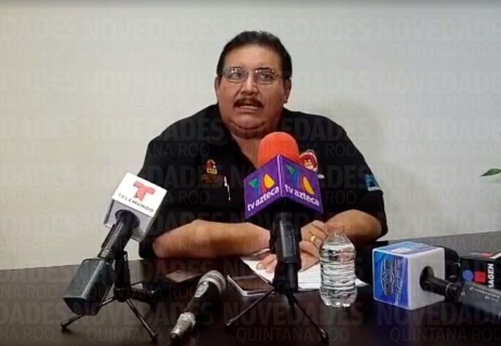El fiscal Miguel Ángel Pech Cen ofreció una conferencia de prensa sobre este hecho. (Eric Galindo/SIPSE)