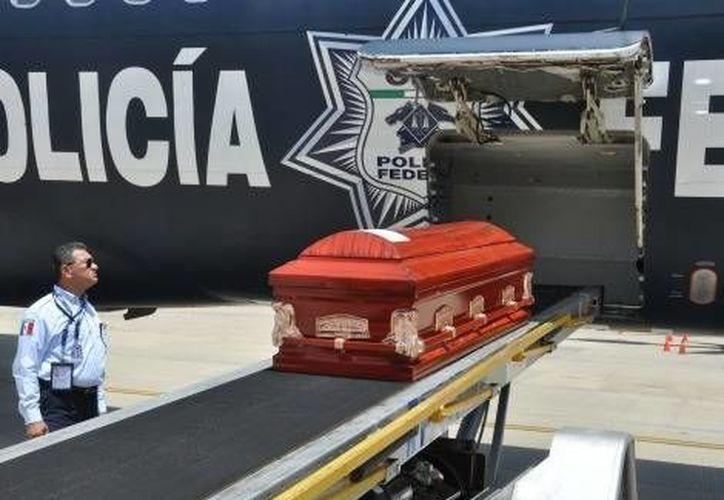 Los cuerpos de los hondureños muertos fueron trasladados en aviones de la Policía Federal. (Milenio)