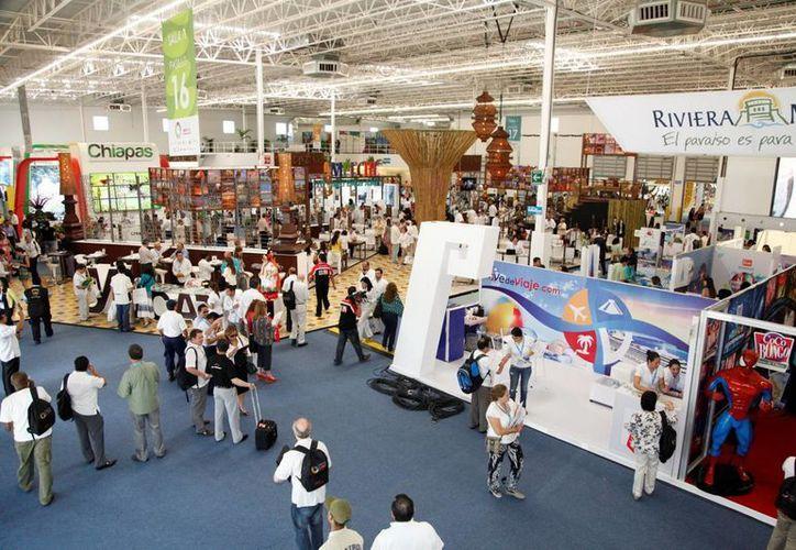 Durante el Tianguis Turístico de México realizado en Cancún, se logró cautivar mayor número de visitantes. (Israel Leal/SIPSE)