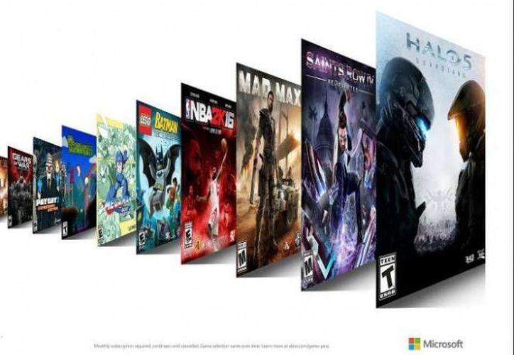 "Xbox Game Pass, el ""Netflix de videojuegos"", llegará pronto a tu consola. (Gráfica tomada de .excelsior.com.mx)"
