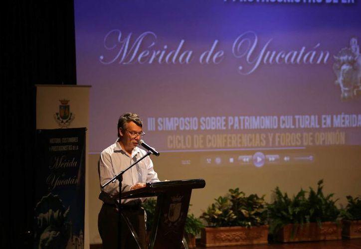 El director de Desarrollo Urbano de Mérida, Federico Sauri Molina, fue uno de los organizadores del III Simposio sobre Patrimonio Cultural en Mérida 'Historia, Costumbres y Patrimonio de la Mérida de Yucatán'. (SIPSE)