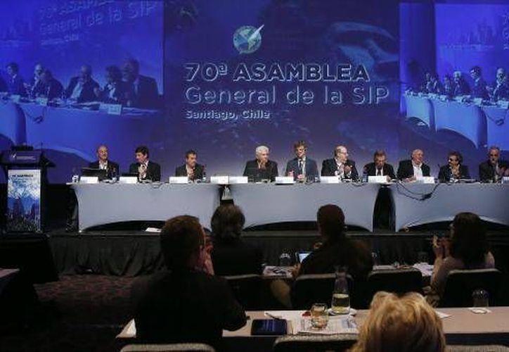 Recientemente se efectuó la 70a. Asamblea General de la SIP. (Milenio Novedades)