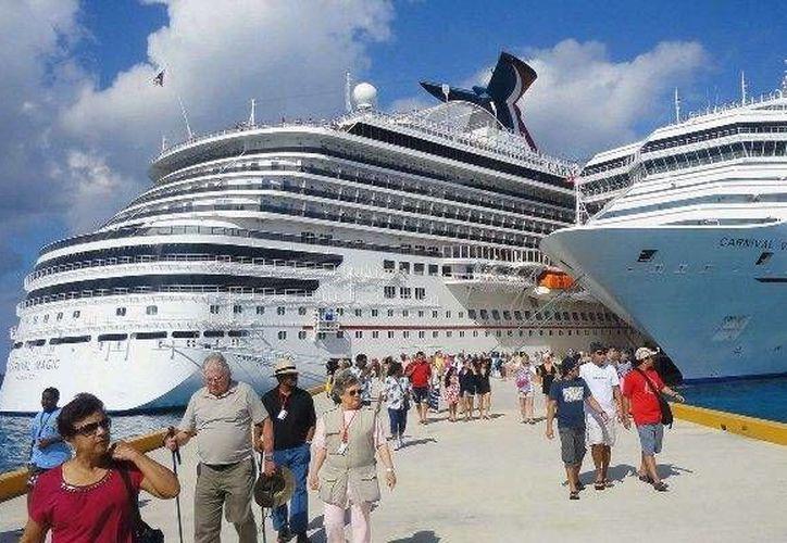 Los cruceros arribar´na la segunda semana de febrero en Cozumel y Mahahual. (Cortesía)
