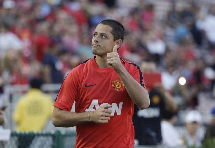 Al parecer el futuro de Javier Hernández seguiría con los 'Red Devils' pues el Olympique de Marsella se habría interesado por el  jugador mexicano, sin embargo, el fichaje parece imposible de concretarse. (Archivo Associated Press)