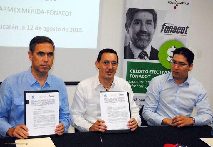Coparmex y Fonacot firmaron un convenio de colaboración  para promover la regularización de las 550 empresas que agrupa en este organismo. (Milenio Novedades)