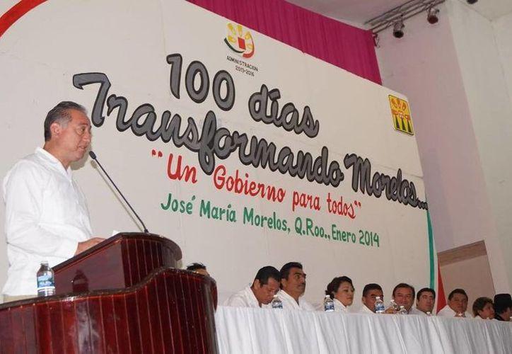 """""""Tengo 995 días para seguir haciendo posible lo que para muchos parecía imposuible"""", abundó el alcalde Juan Manuel Parra López. (Cortesía/SIPSE)"""
