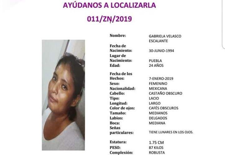 La joven fue vista por última vez en su domicilio. (Facebook @FGEQuintanaRoo)