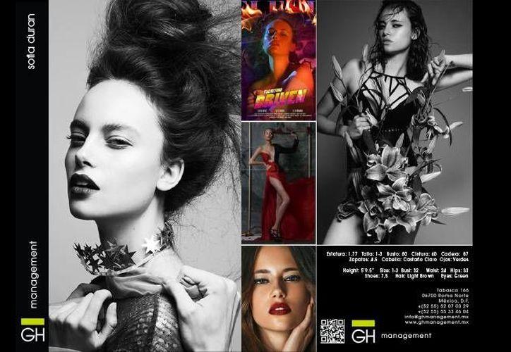 Sofía Durán, de 17 años, lleva tres de modelar. Ya estuvo en las Fashion Week de Berlín y de Hamburgo. (ghmanagement.mx)