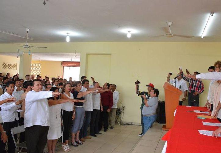 Consejos del PRI en Progreso rinden protesta. (SIPSE)
