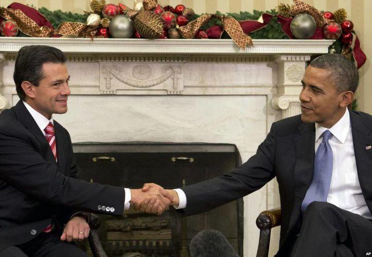 Imagen del encuentro del presidente de México, Enrique Peña Nieto, con su homólogo de EU, Barack Obama, en la Casa Blanca, en noviembre de 2012. (Archivo/Agencias)
