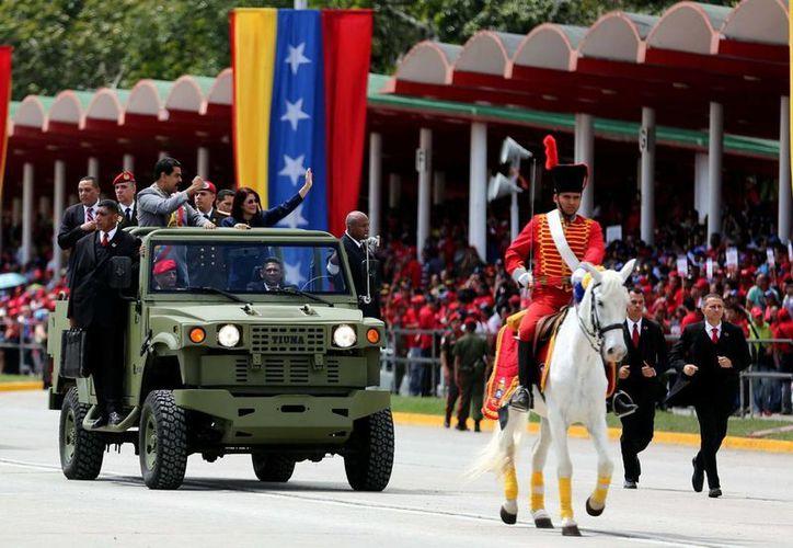 El presidente de Venezuela encabezó la conmemoración del bicentenario del natalicio de Ezequiel Zamora. (Notimex)