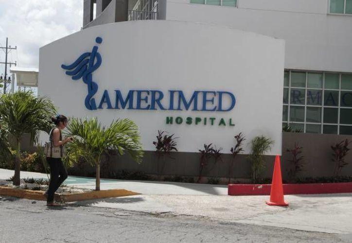 El menor fue atendido por los médicos del hospital Amerimed. (Redacción/SIPSE)