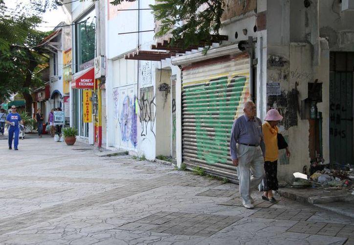 La reactivación del centro de la ciudad continúa frenada. (Tomás Álvarez/SIPSE)
