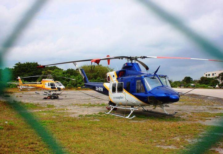 Los  vuelos en helicópteros saldrán desde el muelle fiscal hacia Chichén Itzá, Tulum, Cancún, Cozumel y Chetumal. (Foto: Contexto/SIPSE)