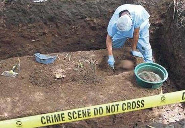 En las fosas se encontraron cadáveres de pandilleros rivales de la Mara Salvatrucha y otras personas. (panamaamerica.com.pa)