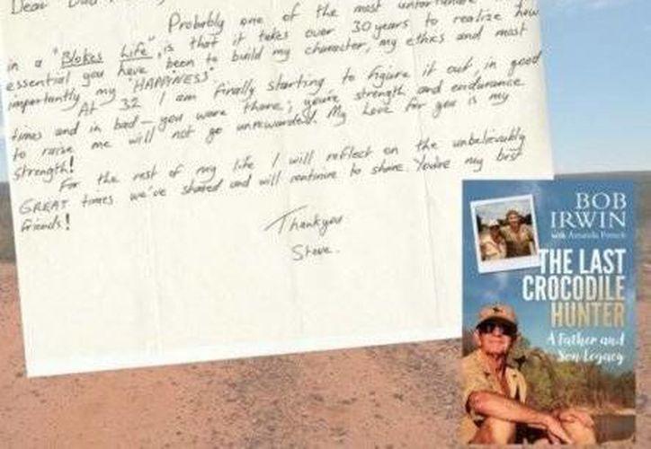 La carta del extinto conductor fue publicada en el libro <i>The Last Crocodile Hunter</i>. (Excelsior)