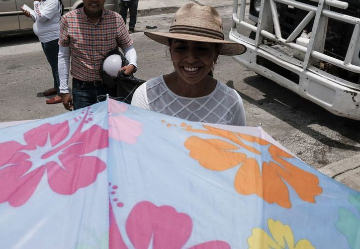 Marybel Villegas Canché vistió algunas colonias de la capital del Estado. (SIPSE)