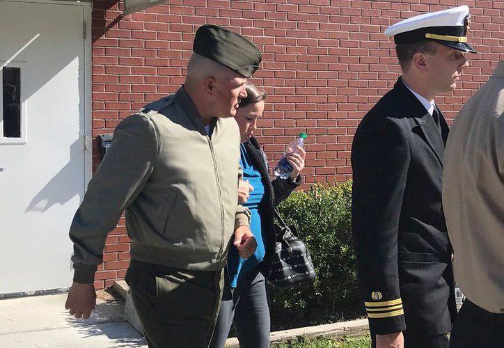 Sargento Joseph Félix, en Carolina del Sur. (Foto de AP)