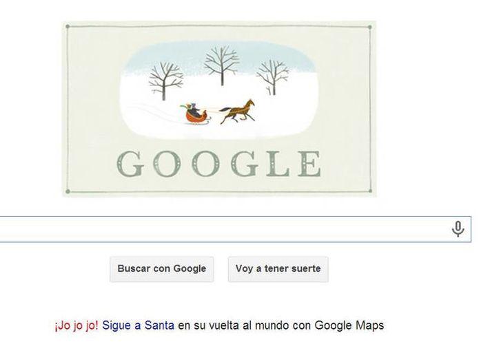 Google coloca un doodle en cada fecha importante; esta vez le tocó a la Navidad. (Captura de pantalla)