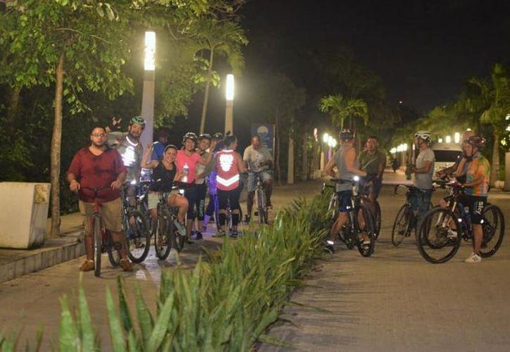 Los ciclistas aprovecharán las vías con fines recreativos. (Octavio Martínez/SIPSE)