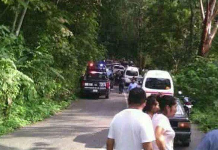 Emboscan a policías y roban medio millón del programa Prospera en Chiapas. (Foto: Río Doce)