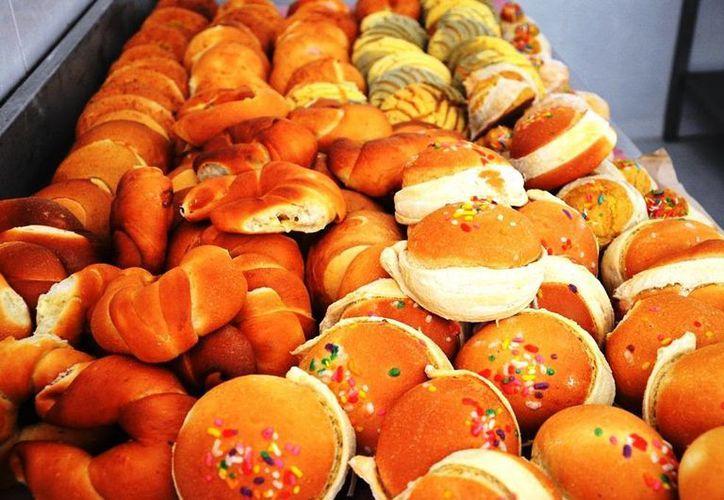 Las mujeres producen al diariamente alrededor de 500 piezas de pan con harina que se obtiene de la semilla del ramón. (Edgardo Rodríguez/SIPSE)