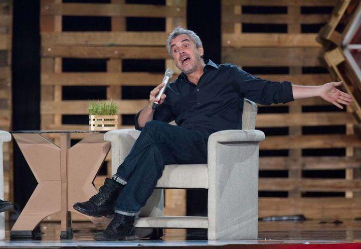 El cineasta mexicano Alfonso Cuarón está nomiado en la categoría de mejor director de los premios Bafta. Foto de archivo de su participación en TagDF,  en julio de 2013. (NTX)