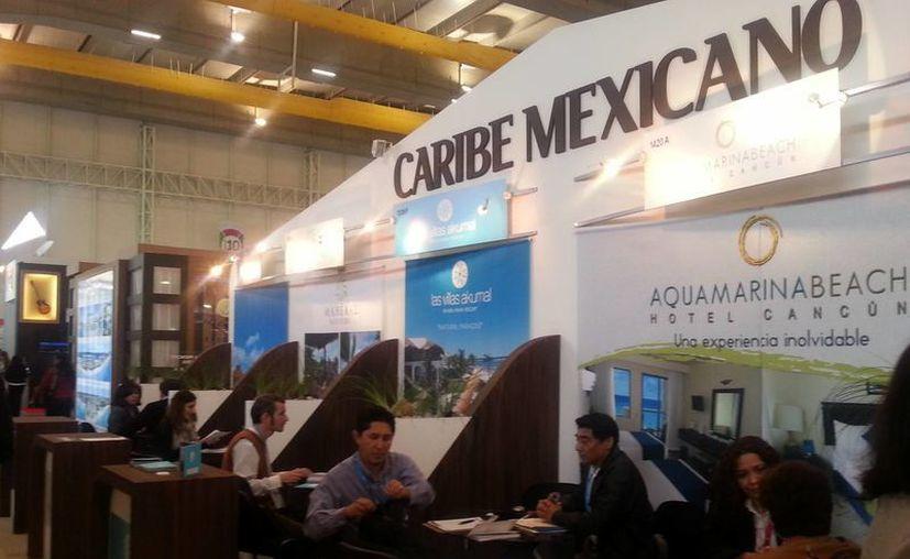 La presencia del Caribe Mexicano en el Tianguis Turístico de Puebla. (Renán Moguel/SIPSE)