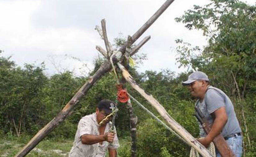 Los productores del ejido Lázaro Cárdenas, en Solidaridad, cuentan sólo con cinco pozos para regar sus cultivos. (Octavio Martínez/SIPSE)