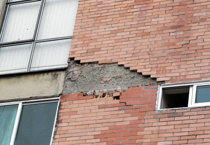 El sismo de esta mañana dejó daños leves en algunas estructuras en el DF. (Notimex)