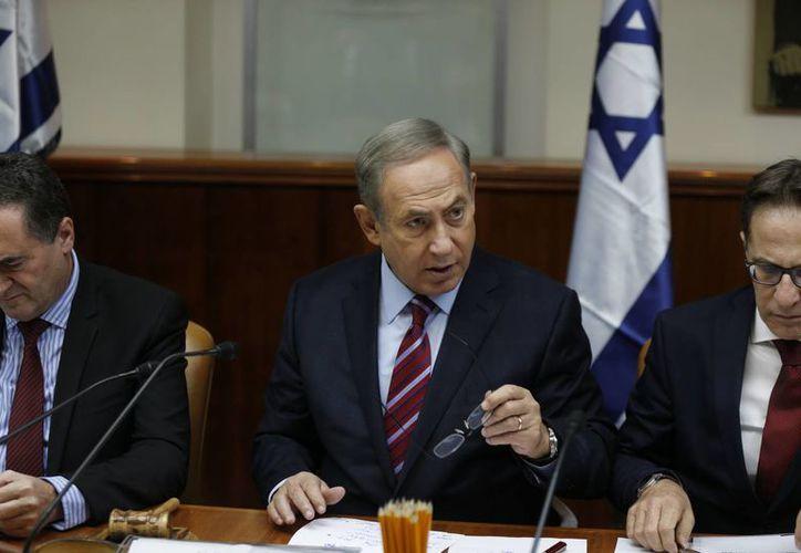 Netanyahu fustigó la actuación de Naciones Unidas asegurando que ataca a la única democracia sólida de Medio Oriente, que es Israel. (AP/Amir Cohen)