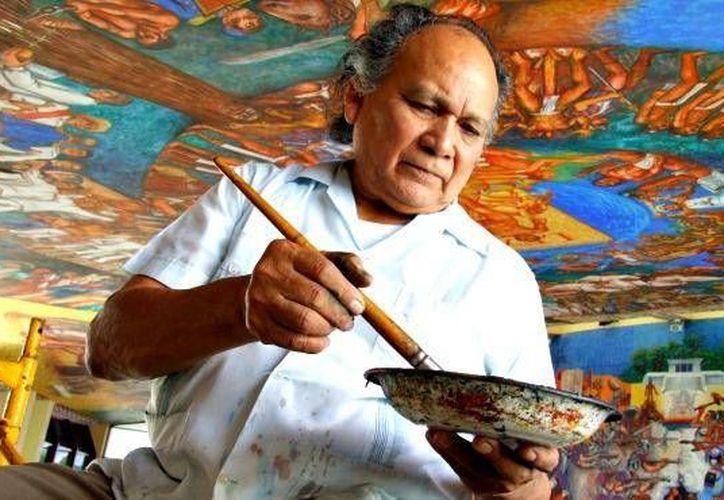 El muralista, Elio Carmichael, fue el creador del primer escudo de Quintana Roo. (Foto Ilustrativa/Internet)