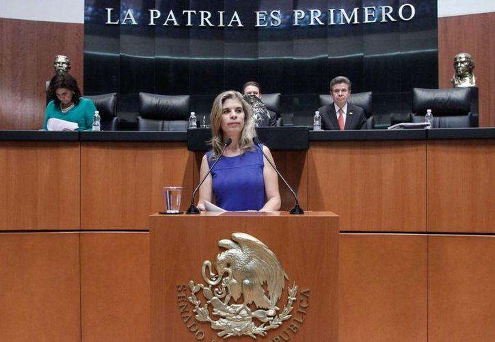 La senadora por Querétaro, Marcela Torres Peimbert, devolvió el dinero y pidió al resto de sus compañeros hacer lo mismo por ética. (pan.senado.gob.mx)