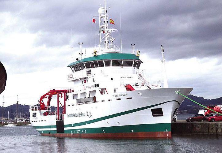 El Buque de Investigación Pesquera y Oceanográfica de Inapsca que realizará trabajos en la Sonda de Campeche. (Foto:www.revistanoticias.sener)