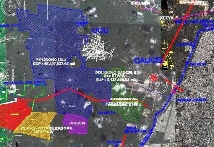 Plano original del proyecto denominado Plan Maestro de Ucú. (SIPSE)