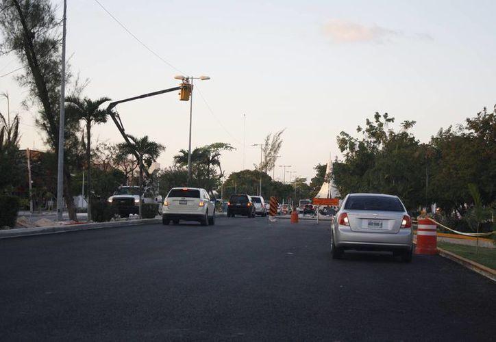 En el centro de la ciudad continúan trabajos de remodelación. (Israel Leal/SIPSE)