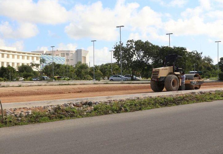 Quedaron pendientes el ejercicio parcial para pavimentaciones en diversas zonas de la ciudad. (Carlos Horta/SIPSE)