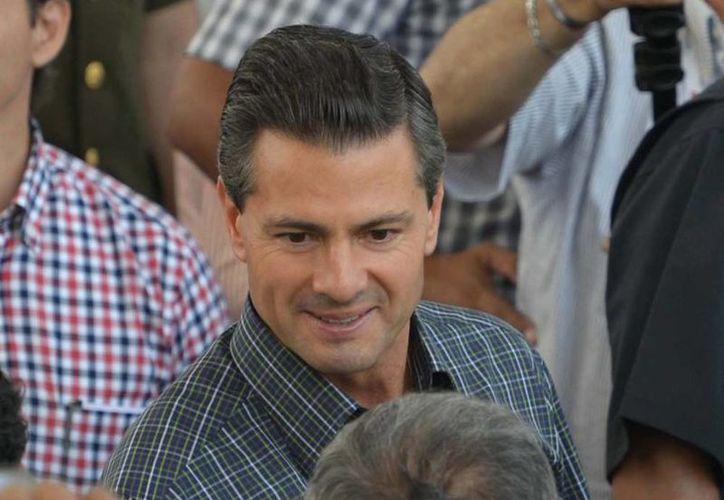 Presidencia de la República  desmintió datos publicados por Reuters. Imagen del Presidente en una visita que realizó hoy a la empresa SuKarne en Villa Hermosa, Michoacán. (presidencia.gob.mx)