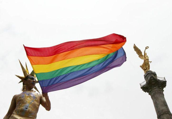 Imagen de la Marcha del Orgullo Gay en  la Ciudad de México, lugar donde el uno por ciento de los matrimonios gays han fracasado. (Archivo/Notimex)