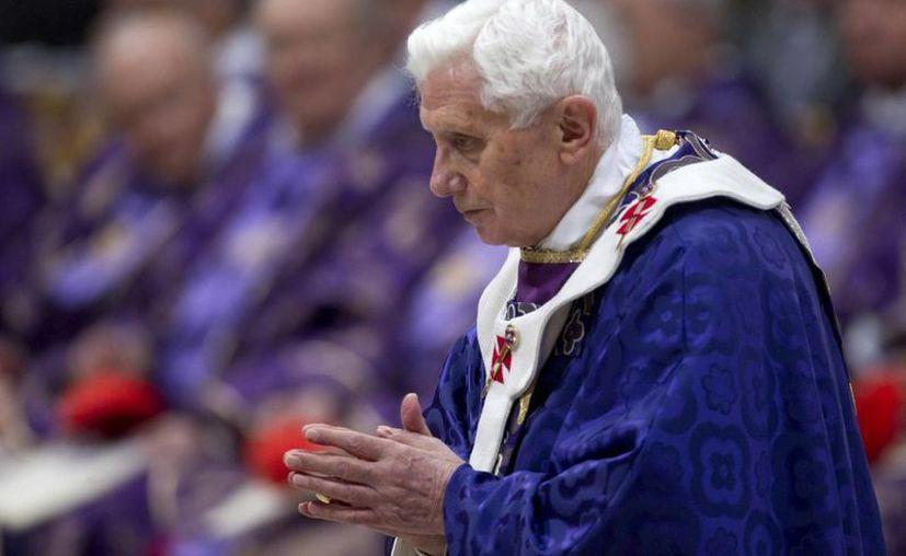 El Papa oficio la misa de Miércoles de Ceniza. (EFE)