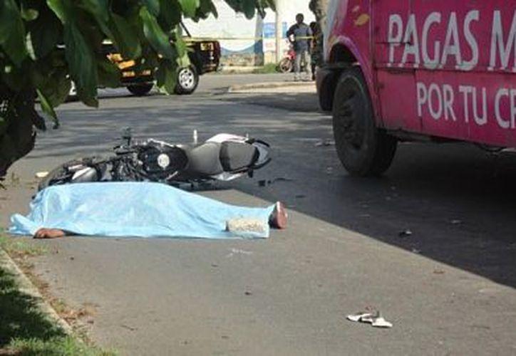 En promedio. en Yucatán muere un motociclista cada dos días. (Foto: Milenio Novedades)