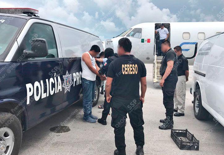 Los internos fueron movilizados desde la cárcel de Cancún. (Cortesía/ SIPSE)