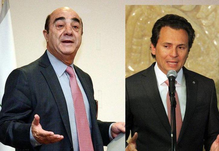 Murillo Karam y Emilio Lozoya (r) comparecerán ante las Comisiones de Energía, Medio Ambiente y la Especial de Cuenca de Burgos. (Notimex)
