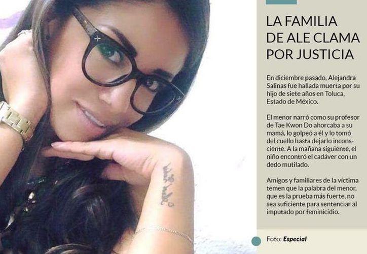 Alejandra tenía 28 años de edad, era madre de un niño, estaba divorciada.  (Sin Embargo)