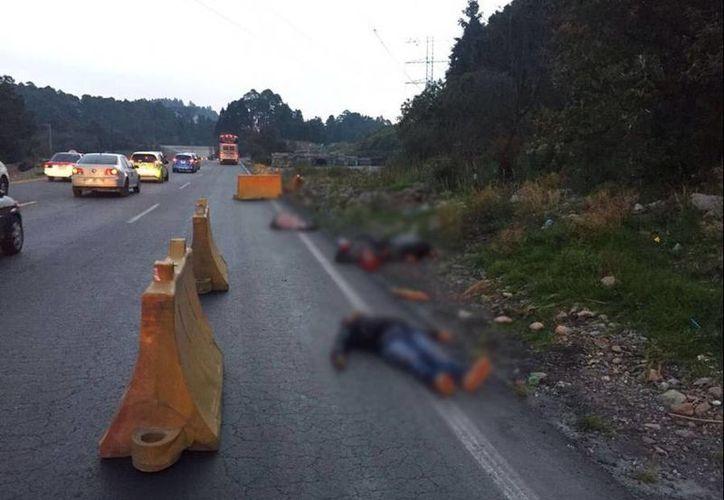 Durante el mes de octubre se consignaron mil 84 homicidios dolosos relacionados con el crimen organizado en las 32 entidades. Ayer fueron encontrados cuatro cuerpos en La Marquesa. (Twitter/@RegeneracionMx)